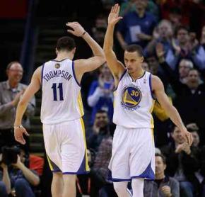 Para Curry, Warriors acerta em não trocar Klay Thompson porLove